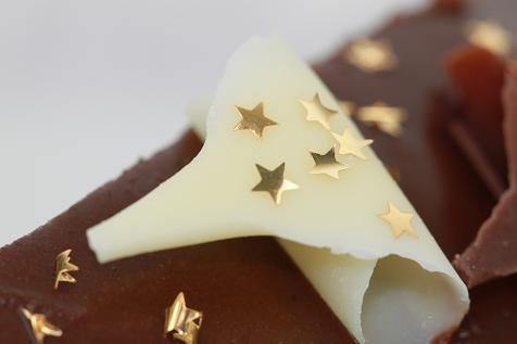Gold Stars cut from edible water soluble film