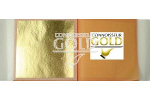 25 Leaves Transfer Booklet 24ct Pure Edible Gold Leaf 80 x 80mm