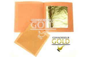 10 Loose leaves Booklet 24ct Gold Leaf 50 x 50 mm