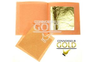 2 Loose leaves Booklet  23ct Edible Gold Leaf  50 x 50 mm