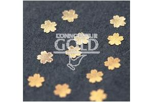 Gold Snow Flakes/Blossoms Small