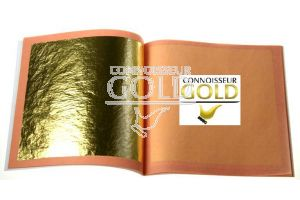10 leaves loose booklet 23ct Edible Gold Leaf 80 x 80mm