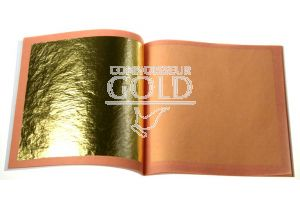25 Loose Leaves Booklet 24ct Pure Edible Gold Leaf 80 x 80mm