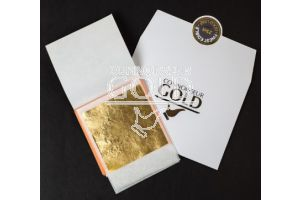 23ct Red/Rose Edible Gold Leaf Transfer 80 x 80 - 10 Sheets